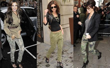Cheryl Cole estilo militar