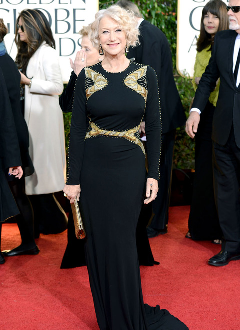 Helen Mirren en Badgley Mischka (Getty Images)