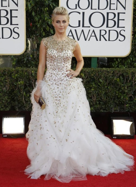 Julianne Hough en Monique Lhuillier (Reuters)