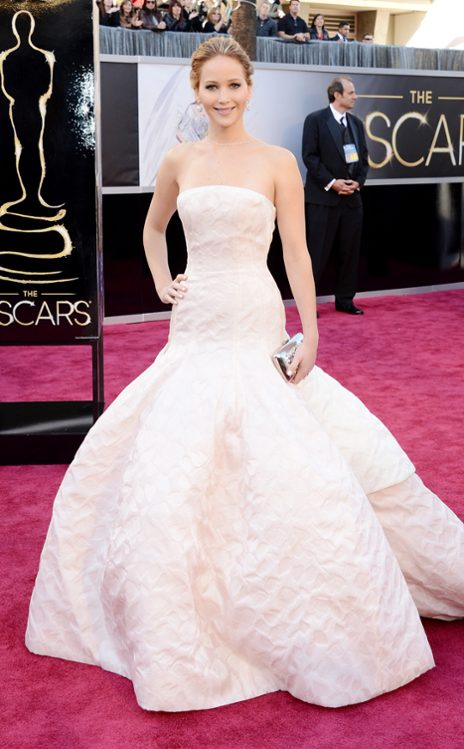 Jennifer Lawrence en Dior Haute Couture.