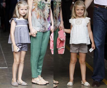 Hasta la generación más pequeña de la familia real española adora las abarcas. Aquí las infantas Leonor y Sofía con sus menorquinas.