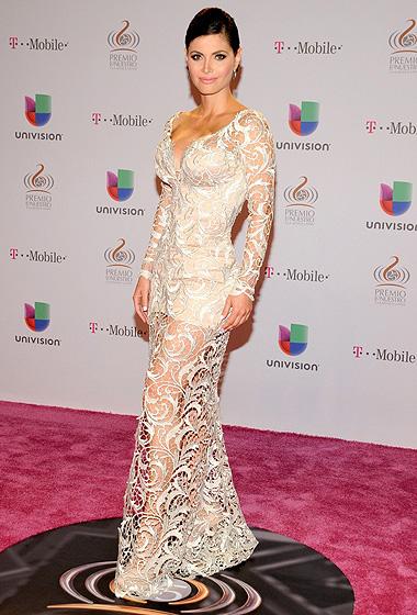 Chiquinquirá Delgado optó por un vestido de encaje.