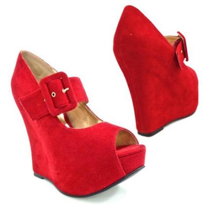 Plataformas rojas Isadora modelo Azucena disponible en varios colores